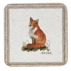 Churchill China Alex Clark Wildlife - Square Fox Coasters Set Of 6