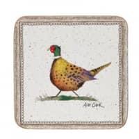 Churchill China Alex Clark Wildlife - Square Pheasant Coasters Set Of 6