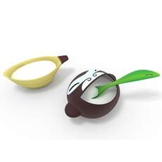 Alessi Banana Kid Sugar Bowl And Spoon