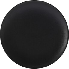 Maxwell and Williams Caviar Coupe 15cm Plate Black