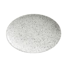 Maxwell and Williams Caviar Speckle 30cm Oval Plate