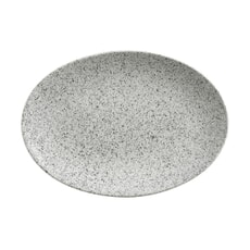Maxwell and Williams Caviar Speckle 35cm Oval Plate