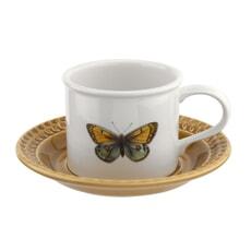 Botanic Garden Harmony Breakfast Cup And Saucer Amber