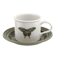 Botanic Garden Harmony Breakfast Cup And Saucer Forest Green