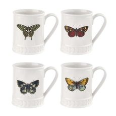 Botanic Garden Harmony 12oz Tankard Butterfly Set Of 4