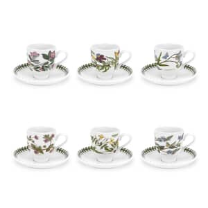 Portmeirion Botanic Garden - Coffee Cup and Scr (Trad) Set Of 6