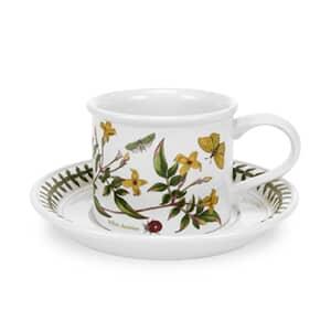 Portmeirion Botanic Garden - Tea Cup and Saucer (Drum) Set Of 6