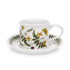 Portmeirion Botanic Garden - Tea Cup and Saucer (Drum) Set Of 6