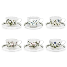Portmeirion Botanic Garden - Tea Cup and Saucer (Traditional) Set Of 6