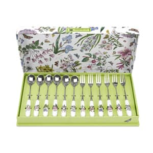 Portmeirion Botanic Garden - Pastry Fork and Tea Spoon Set 12