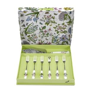 Portmeirion Botanic Garden - Cake Slice and 6 Pastry Forks