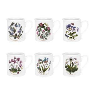 Portmeirion Botanic Garden - Breakfast Mug 9oz set 6