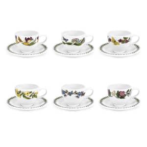 Portmeirion Botanic Garden - Espresso Cup and Scr Set Of 6