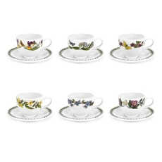 Portmeirion Botanic Garden - Espresso Cup and Scr Set Of 6