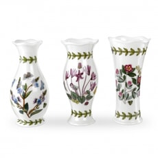 Portmeirion Botanic Garden - Mini Vases Set Of 3