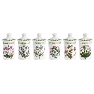Portmeirion Botanic Garden - Herb And Spice Jar Set Of 6