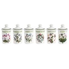 Portmeirion Botanic Garden - Herb And Spice Jar Set Of 6