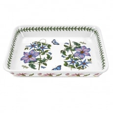 Portmeirion Botanic Garden - Medium Lasagne Dish With Clematis Motif