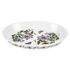 Portmeirion Botanic Garden - Oval Baking Dish 14.5inch Clematis