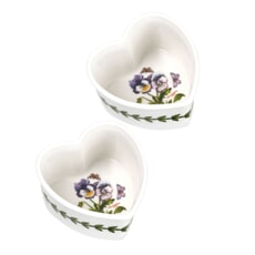 Portmeirion Botanic Garden - Heart Ramekin Set Of 2 Pansy