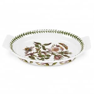 Portmeirion Botanic Garden - Oval Gratin Dish With Dog Rose Motif