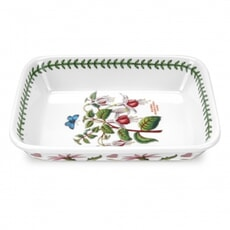 Portmeirion Botanic Garden - Small Lasagne Dish With Fuschia Motif