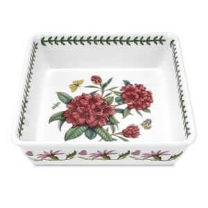 Portmeirion Botanic Garden - Deep Square Dish With Rhododendron Motif
