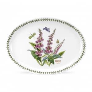 Portmeirion Botanic Garden - Large Oval Platter With Foxglove Motif