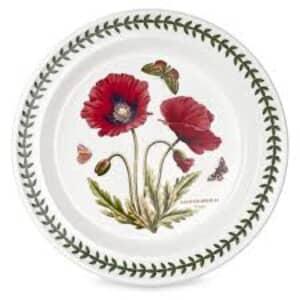 Portmeirion Botanic Garden - Bread And Butter Plate Poppy
