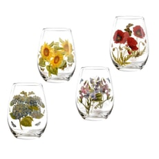 Portmeirion Botanic Garden - Stemless Wine Glasses Set Of 4