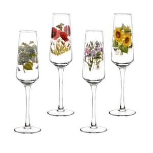 Portmeirion Botanic Garden - Champagne Flutes Set Of 4