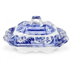 Spode Blue Italian - Covered Vegetable Dish