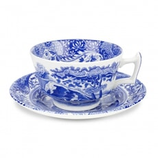 Spode Blue Italian - Tea Cup And Saucer