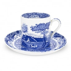 Spode Blue Italian - Coffee Cup And Saucer