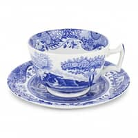 Spode Blue Italian - Breakfast Cup And Saucer