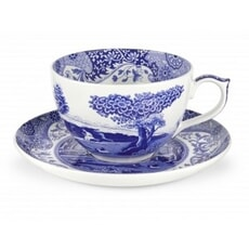 Spode Blue Italian - Jumbo Cup and Saucer