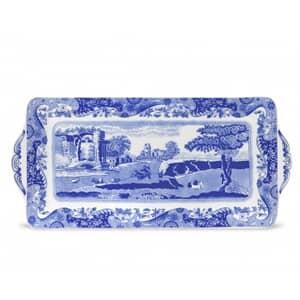 Spode Blue Italian - Sandwich Tray Eathenware / Porcelain