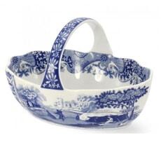 Spode Blue Italian - Handled Basket