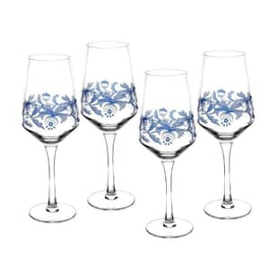 Spode Blue Italian - Wine Glasses Set 4