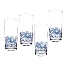 Spode Blue Italian - Hi-Ball Glasses Set 4
