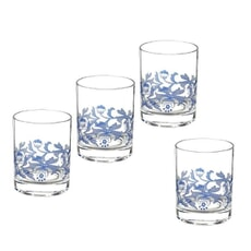Spode Blue Italian - Double Old Fashioned Glasses Set 4