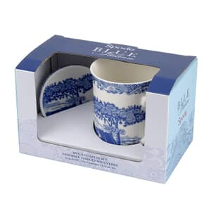 Spode Blue Italian - Mug And Coaster Set