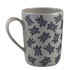 Murmur Kai Decorative Tall Mug Indigo Turtle