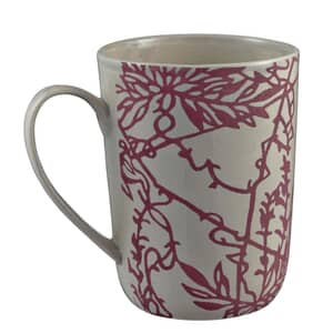 Murmur Etch Decorative Tall Mug Red