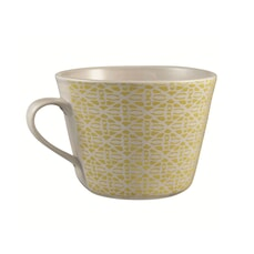 Murmur Diamond Decorative Conical Mug Chartreuse