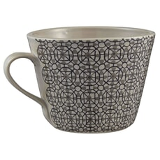 Murmur Mosaic Decorative Conical Mug Grey