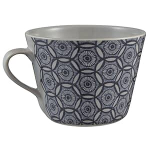 Murmur Japanese Floral Decorative Conical Mug Indigo