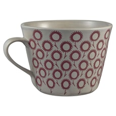 Murmur Daisy Decorative Conical Mug Red