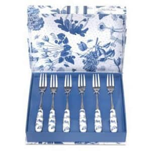 Portmeirion Botanic Blue - Pastry Forks Set Of 6