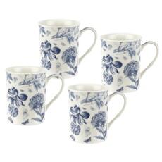 Portmeirion Botanic Blue - Set Of 4 Mugs
